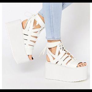 YRU Medusa sandal platforms size 10